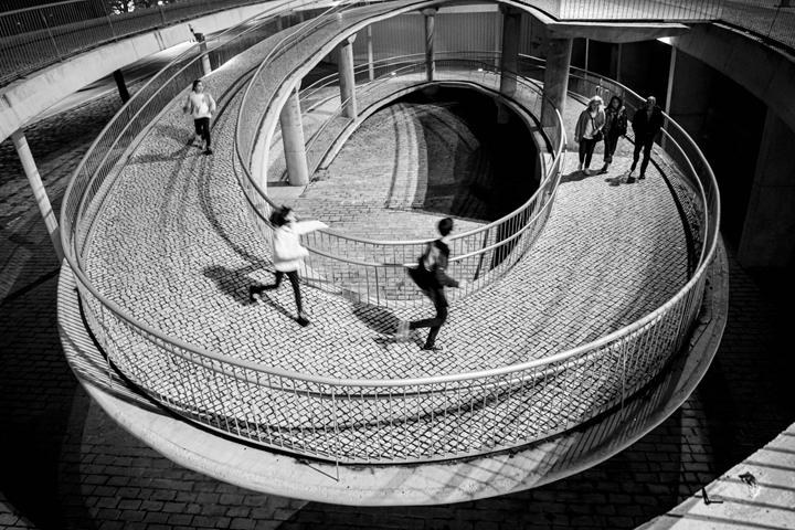 círculo, movimiento contínuo