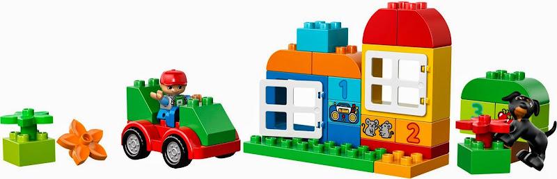 Thành phần có trong bộ Lego 10572 Thùng gạch Duplo vui nhộn