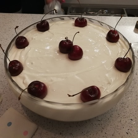 Low Fat Black Cherry Trifle