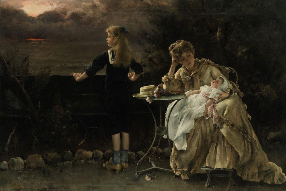 Alfred Stevens - Mere et Ses Enfants