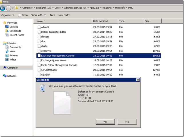 Exchange 2010 Console after DC migration stopped working