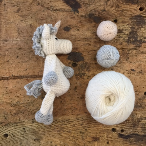 TOFT Edward's Menagerie Chablis the Unicorn Crochet Kit