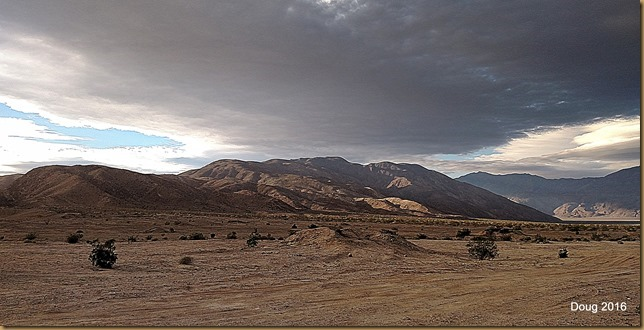 Storm brewing over Coyote Mountain