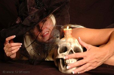 Witch In Hat, Candle Magic