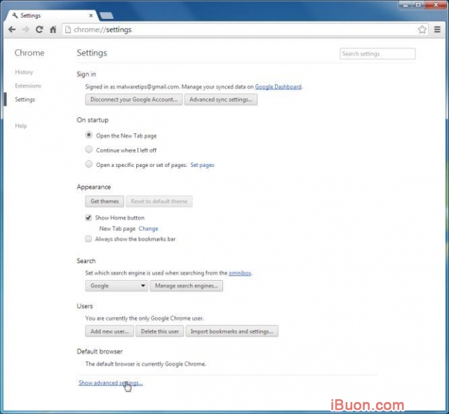 Ảnh mô phỏngGỡ bỏ hoàn toàn WebSearch Toolbar và WebSearch.com - Reset-Chrome-Settings-2
