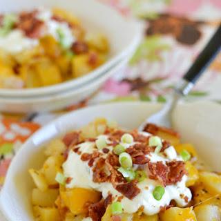 Easy Cheesy Bacon Garlic Potatoes