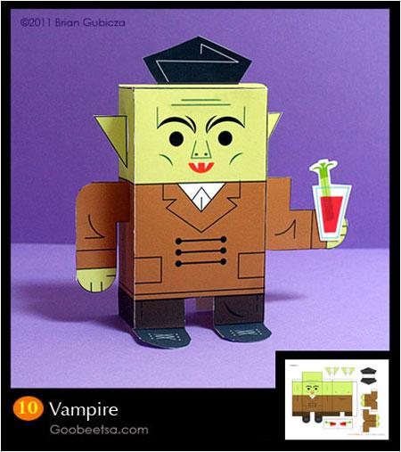 Goobeetsa Vampire Paper Toy