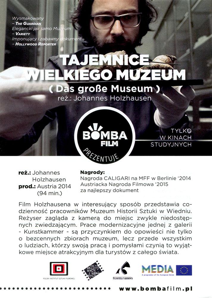 Ulotka filmu 'Tajemnice Wielkiego Muzeum (przód)'