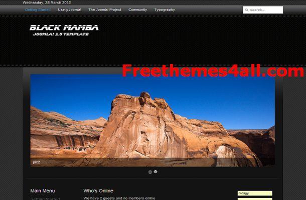 Free Joomla Black Jquery Theme Template