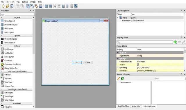 create form in Qt Designer