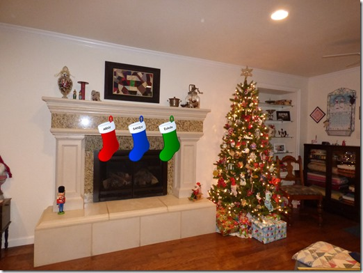 Christmas Tree With Stockings (photoshopped)