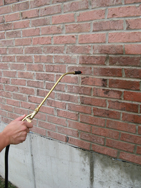 A Tech Masonry And Brick Sealer Siloxane Water Repellent Being Applied To A  Vertical Brick