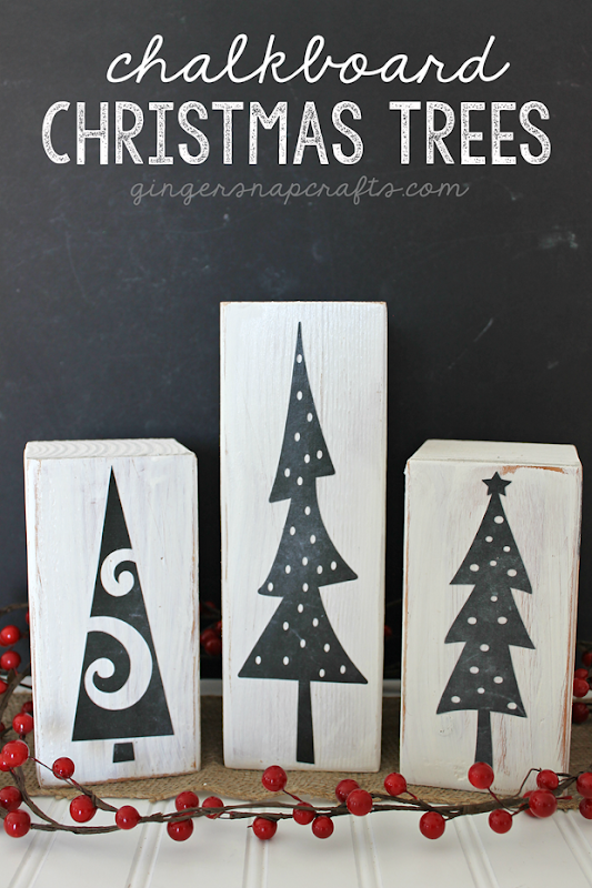 Ginger Snap Crafts: Chalkboard Christmas Trees {tutorial}