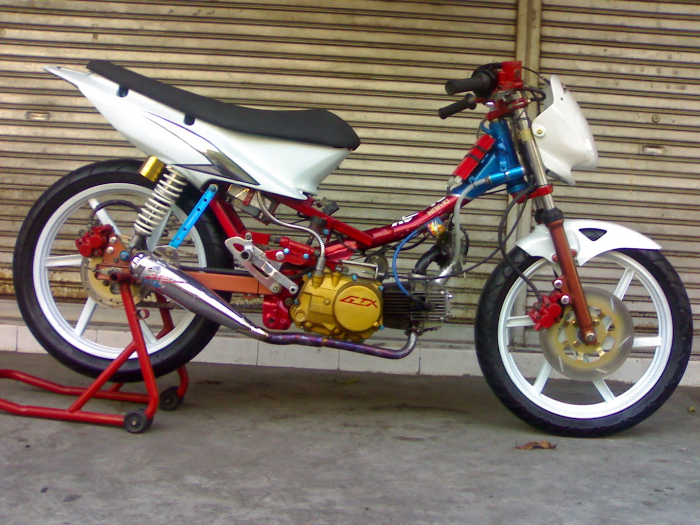 Vega R Modifikasi Road Race Balap