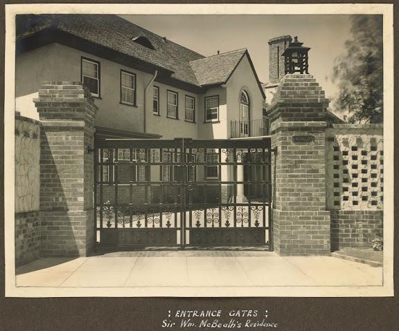 Walter Butler design for Sir Wm McBeath, Irving Road Toorak