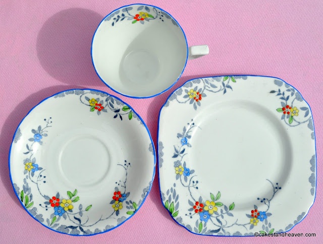 Sutherland Vintage Teacup, Saucer and Tea Plate