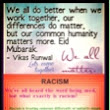 We all have Rights -We all should matter. Stop the Racism. Stop the killings.