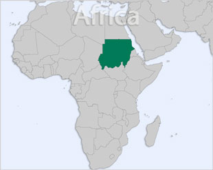 Sudan location map