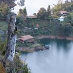 Una imagen en una ladera del peñón