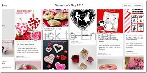 Valentine's Day 2016 Pinterest Board