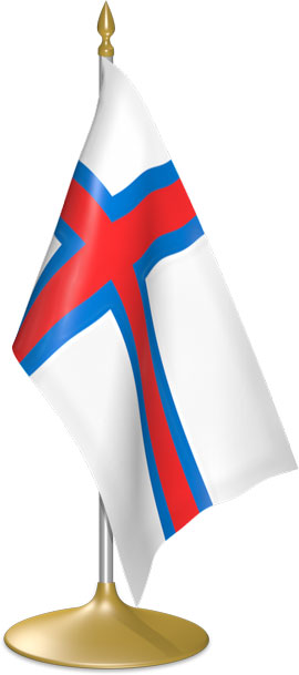 Faroese table flags - desk flags