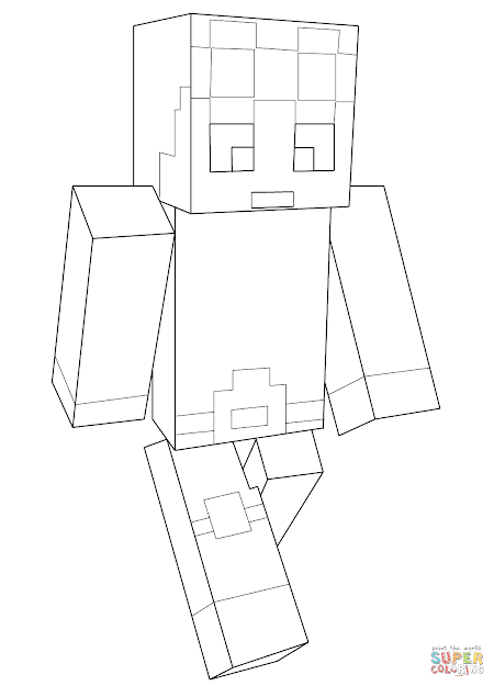 Click The Minecraft Dantdm Coloring Pages To View Printable Version Or Color  It Online Patible With Ipad And Android Tablets