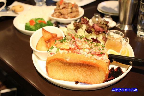 台北東區輕食下午茶甜點餐廳推薦.咖啡弄(東區總店)限定新菜色.墨爾本龍蝦堡/豉汁排骨飯.
