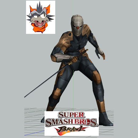 SSBB Gray Fox Papercraft