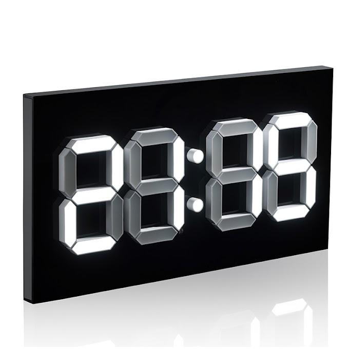 Đồng hồ Led treo tường 3D hiện đại nhà thông minh