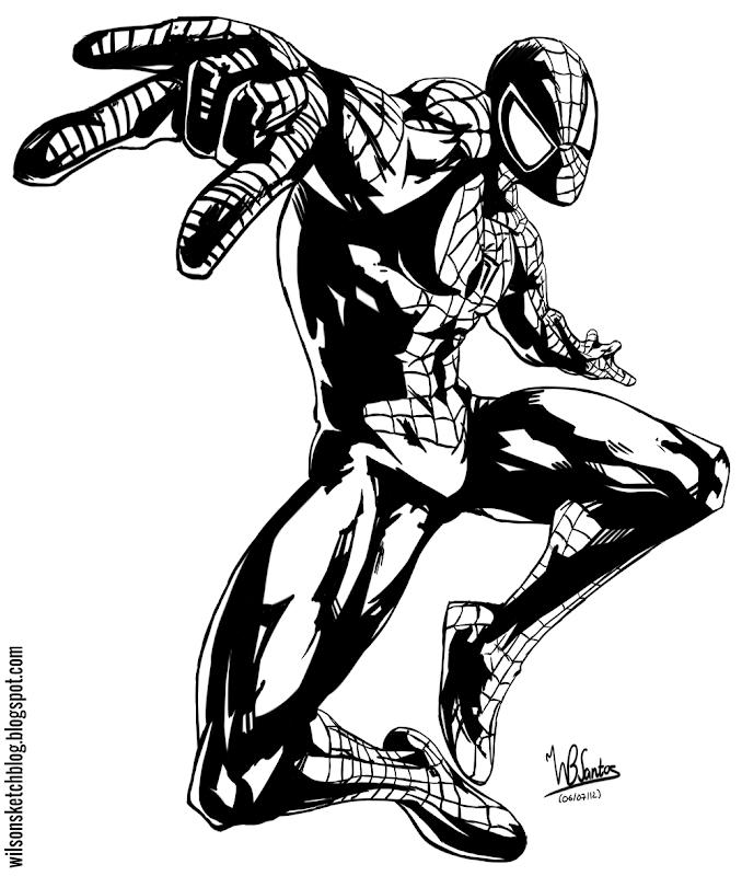 Spider-Man from Ultimate Marvel vs Capcom 3, using Krita 2.5 Beta.