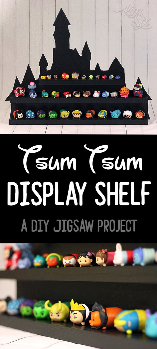 An adorable way to organize and display TsumTsums. Would also work for shopkins or matchbox cars.  The building plans and video tutorial are available. It looks really easy to make!