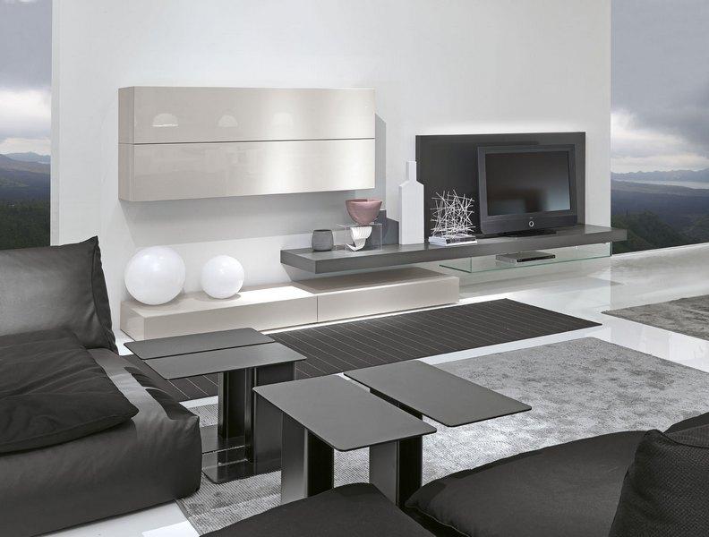 espo casa salotti moderni : mobile da soggiorno Presotto con basi estraibili e pensili a ribalta ...