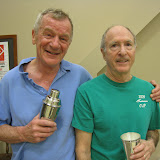 Ned Monaghan, winner, and Steve Steinberg, finalist, of the Men's 65+ flight.