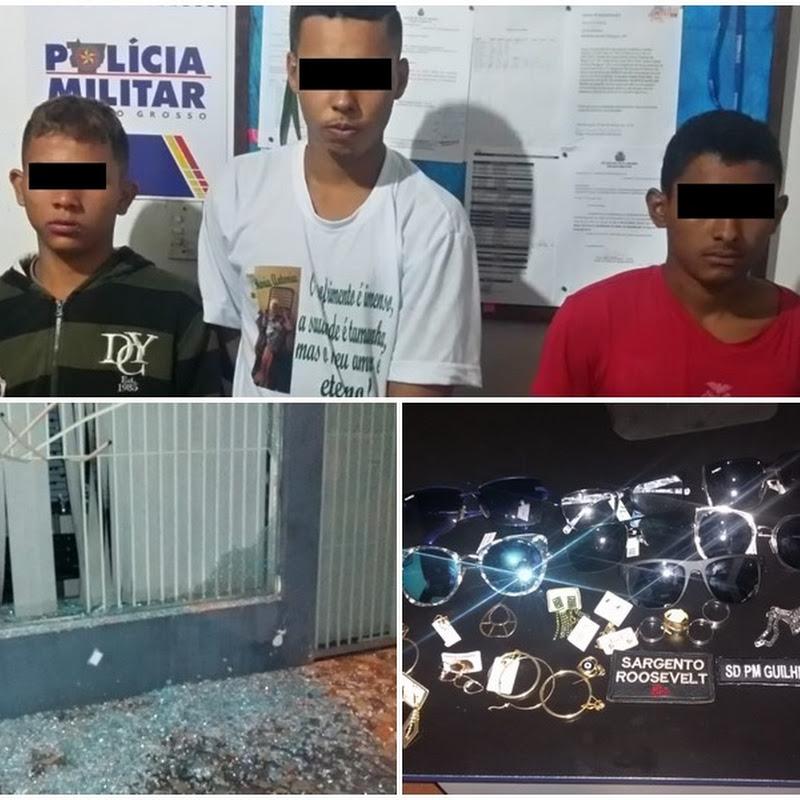 Jovens foram presos por invadir loja e furtar objetos em Alto Paraguai