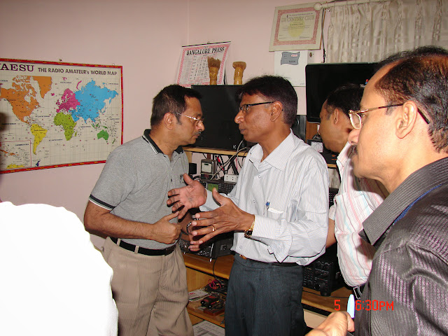 Demonstration of Amateur Radio Satellite communication to Mr Annadurai and Mr Raghavamurthy - DSC00124.JPG