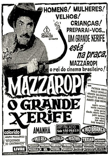 3 - Anúncio filme Mazzaropi - 1972
