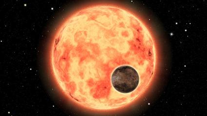 ilustração HD 26965b e sua estrela