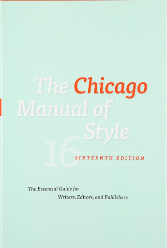 Text Books - The Chicago Manual of Style, 16th Edition