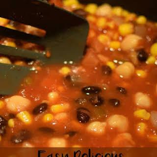 Easy Delicious Vegetarian Chili.
