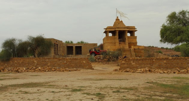 Village temple in the middle of the Thar desert