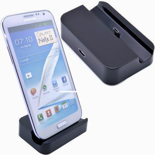 VicTsing Data Sync Charging Cradle Docking Station for Samsung S3 III I9300 Note 2 II N7100 - Black
