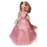 29. kép: Formatorták (lányoknak) - Barbi torta rózsaszín ruhával