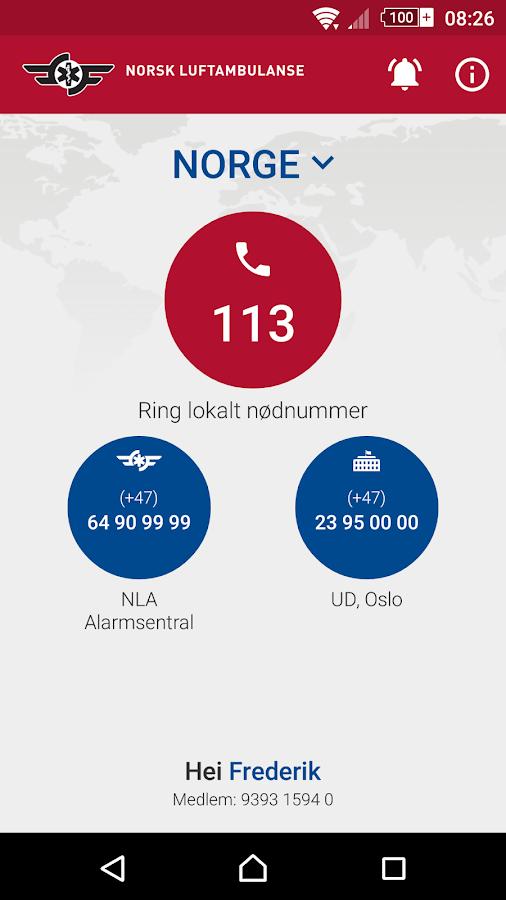 Hjelp Utland- screenshot