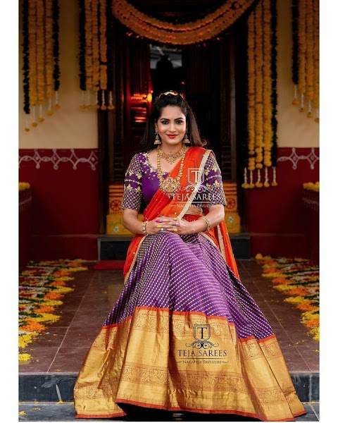 Become Fashion Stylish Online With This 52+Half Sarees Designs.
