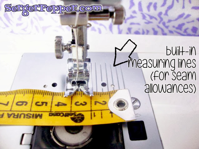 Serger Pepper - Sewing Machine Parts measuring lines