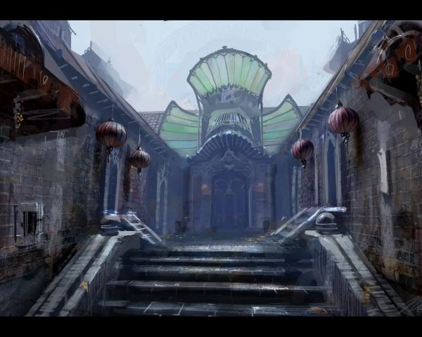 Fantasy Of Mystical Place, Temples And Shrines