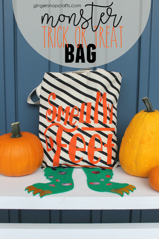 Monster Trick or Treat Bag with Cricut #cricut #cricutmade #halloween #crafts