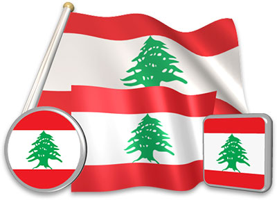 Lebanese flag animated gif collection
