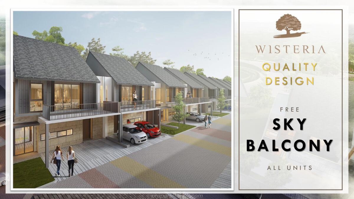 Rumah Wisteria Metland Menteng - Sky Balcony