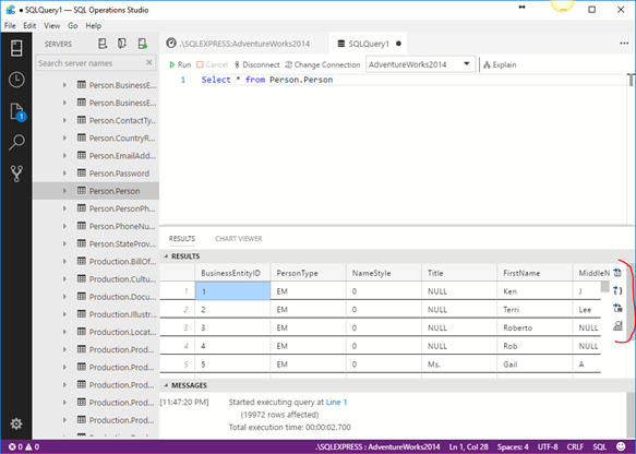 Query Results Viewer